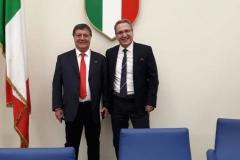 Il neo Presidente Antonio Dima insieme al nostro Presidente Roberto Rella neo eletto Consigliere Federale